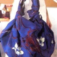 сумка из узелков платка