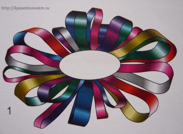 Брошь к Новому году из цветной бумаги, основа