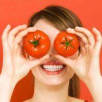 Маски и лосьоны для лица из помидоров и огурцов